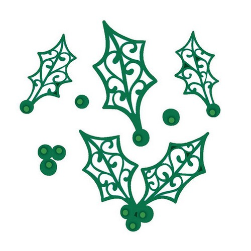 Лезвие Sue Wilson Dies - Festive Collection - Filigree Holly
