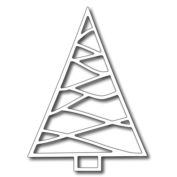 Лезвие Frantic Stamper - Precision Dies - Triangle Christmas Tree