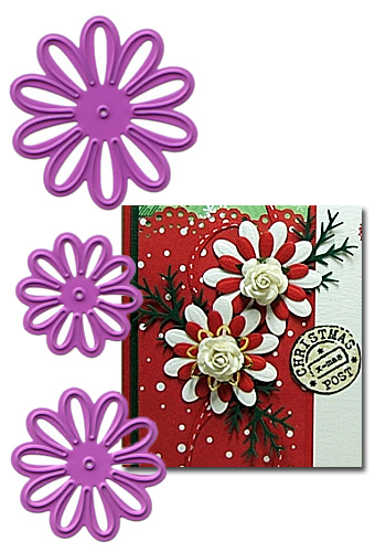 Набор лезвий  Joy! Crafts Cutting & Embossing Dies - 3 Daisies