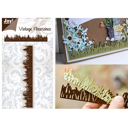 Лезвие Joy! Crafts - Vintage Flourishes - Border Grass