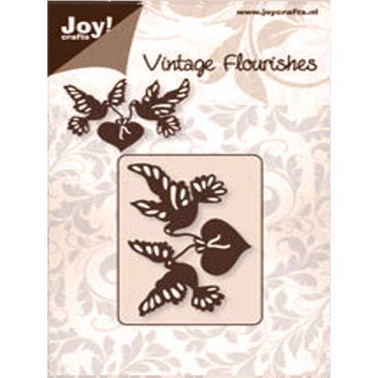 Лезвие Joy! Craft Dies - Vintage Flourishes - Heart and Birds