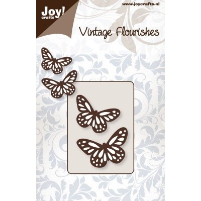Лезвие Joy! Crafts Vintage Flourish Dies - Butterflies