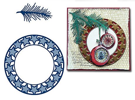 Набор лезвий Marianne Design Creatables - Star Wreath