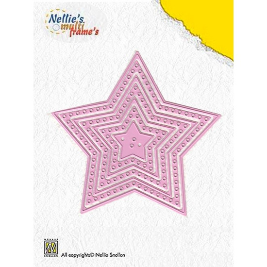 Лезвие Nellie Snellen Multi Frame Dies - Decorate Star (set of 7)