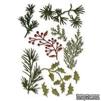 Лезвия Sizzix - m Holtz Alterations - Thinlits Die Set 11 Pack - Holiday Greens - Mini