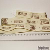 Лента от Thailand - Lovely Print Cotton Ribbon Label String Four Patterns, 1 метр