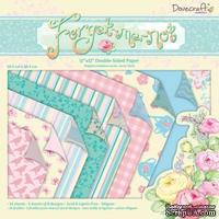 Набор бумаги от Dovecraft  - Forget Me Not Backing, 30×30 см, 24 листа