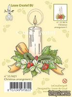 Акриловый штамп от LeCreaDesign - Clear stamp Christmas arrangement 2. with single candle