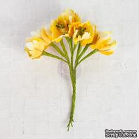 Цветы Prima - Flower Bundle - Yellow - ScrapUA.com