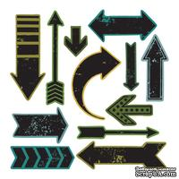 Ножи + штампы от Sizzix и Tim Holtz - Here & There, 12+12