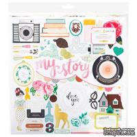 Высечки из чипборда от Crate Paper - Maggie Holmes Open Book Chipboard - Accents - 30x30 см, 44 шт. - ScrapUA.com
