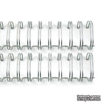 Пружинки для биндера - WR - Cinch - Wire Binders - Silver (1in), диаметр 2.54см, 2 шт. - ScrapUA.com
