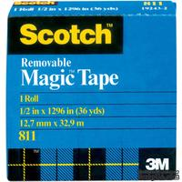 "Скотч многоразового использования - Scotch ® Removable Tape .50"", 12,7мм х 32,9 метров"