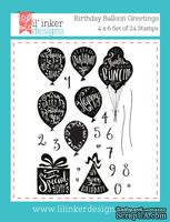 Штампы от Lil' Inker Designs - Birthday Balloon Greetings Stamps