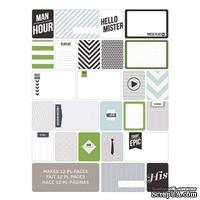 Мини-набор Project Life by Becky Higgins - Themed Cards - Mans World, 60 шт