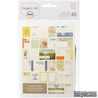 Мини-набор Project Life by Becky Higgins - Themed Cards - Travel, 40 шт
