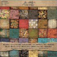 Набор бумаги Advantus - Tim Holtz - Ideaology - Advantus - Lost Found Paper Stash, 36 листов