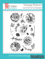 Штампы от Lil' Inker Designs - Vintage Flower Stamps