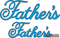 Лезвие Father's от Cheery Lynn Designs, 2 шт.