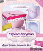 Шаблон-трафарет от  Crafters Companion -Cupcake Templates Collection - Single Cupcake Takeaway Box