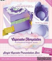 Шаблон-трафарет от  Crafters Companion -Cupcake Templates Collection - Single Cupcake Presentation Box