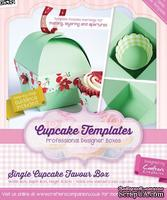 Шаблон-трафарет от  Crafters Companion -Cupcake Templates Collection - Single Cupcake Favour Box
