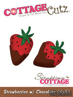 Лезвие CottageCutz - Strawberries w/ Chocolate, 7,5х7,5 см