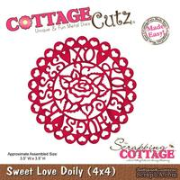 Лезвие CottageCutz - Sweet Love Doily (4x4)