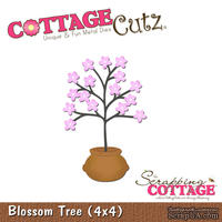 Лезвие CottageCutz - Blossom Tree in a Pot, 10х10 см