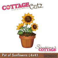 Лезвие CottageCutz - Pot of Sunflowers, 10х10 см