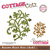 Лезвие CottageCutz Autumn Acorn Vine, 10х10 см