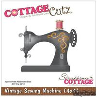 Лезвие CottageCutz Vintage Sewing Machine, 10х10 см