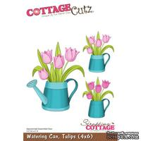 Лезвие CottageCutz - Watering Can, Tulips, 10х15 см
