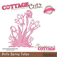 Лезвие CottageCutz Bella Spring Tulips (Elites)