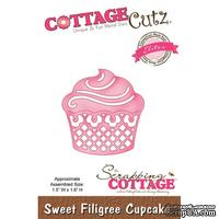 Лезвие CottageCutz - Sweet Filigree Cupcake (Elites)