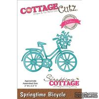 Лезвие CottageCutz - Elites Die - Springtime Bicycle