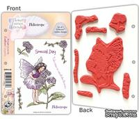 Набор штампов от Crafter's Companion - Flower Fairy EZMount Stamp Set - Heliotrope