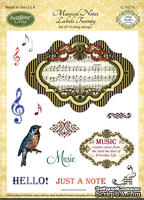 Штампы от JustRite - Musical Notes Labels Twenty - Cling