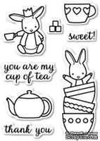 Штампы от Memory Box - Bunny Tea Time clear stamp set