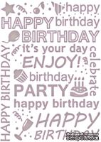 Папка для тиснения от Couture Creations - Happy Birthday, All Occasions Collection
