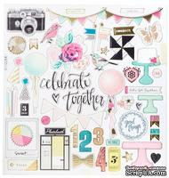 Высечки из чипборда от Crate Paper - Maggie Holmes Confetti Collection - 30x30 см, 49 шт.