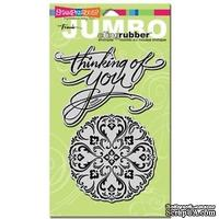 Stampendous CRS5002-C Cling Rubber Stamp, Jumbo Think of You