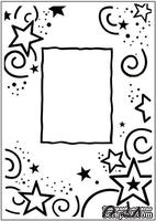 Папка для тиснения Crafts Too Embossing Folder - Stars Frame