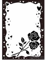 Папки для тиснения Crafts Too Embossing Folder -Rose & Heart Frame