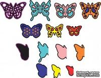Лезвия Mini Dimensional Butterflies w Angel Wings от Cheery Lynn Designs, 14 шт.