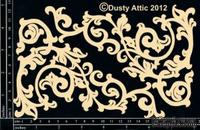 Чипборд от Dusty Attic - Ornate Scroll,2 шт.