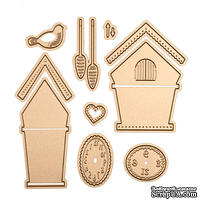 Ножи от Spellbinders - Cuckoo Clock Die Set - Small Die of the Month Club - ScrapUA.com