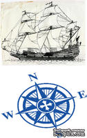 Доска для тиснения Sailing Ship/Compass от Cheery Lynn Designs