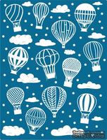 Пластина для эмбоссинга от Cheery Lynn Designs - Hot Air Balloons and Clouds Embossing Plate