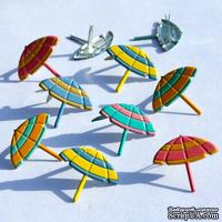 Набор брадсов Eyelet Outlet - Beach Umbrella Brads, 12 штук - ScrapUA.com